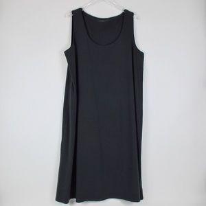 Eileen Fisher Dark Gray Sleeveless Midi Dress 1X